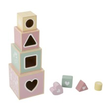 Holz-Stapelturm - Adventure Pink von Little Dutch