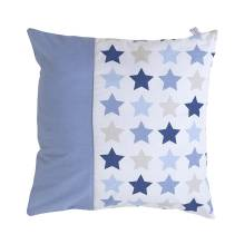 Kissen - Mixed Stars Blue 40x40 cm von Little Dutch