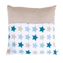 Kissen - Mixed Stars Mint 40x40cm von Little Dutch