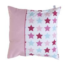Kissen - Mixed Stars Pink 40x40 cm von Little Dutch