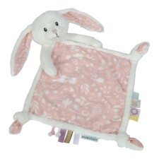 Kuscheltuch Hase - Adventure Pink von Little Dutch