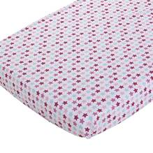 Spannbettlaken 70x140 cm - Mixed Stars Pink von Little Dutch