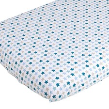 Spannbettlaken Babybett 120x60 cm - Mixed Stars Mint von Little Dutch