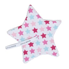 Stern-Schnullertuch - Mixed Stars Pink von Little Dutch