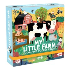 Pocket Puzzle 'My Little Farm' 100 Teile von londji