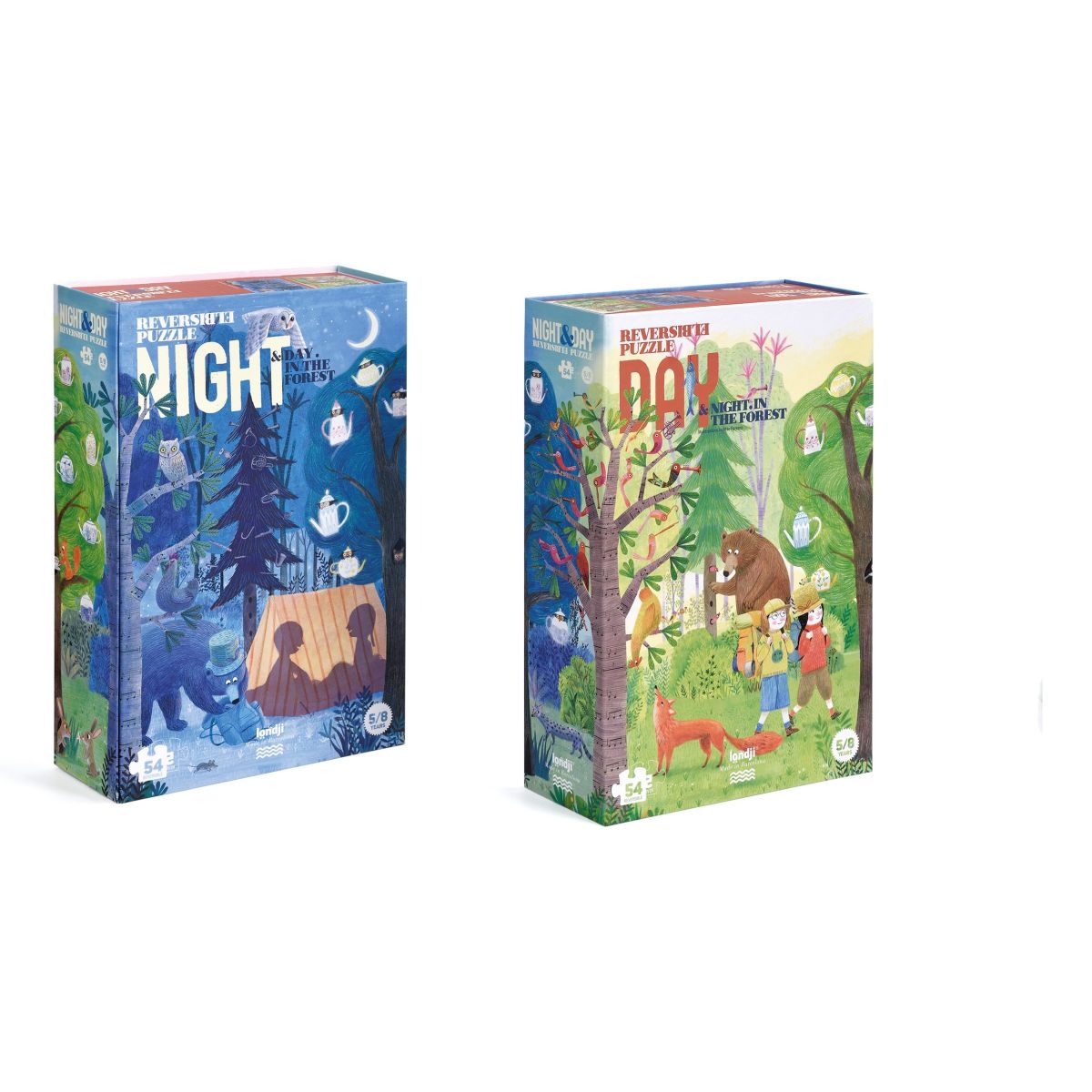 Puzzle 'Forest Night & Day' 50 Teile