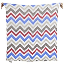 Mulltuch 'Chevron' in blau-rot von The Little Linen Company Australia