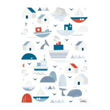 Wandsticker 'Boats & Home' von Lilipinso