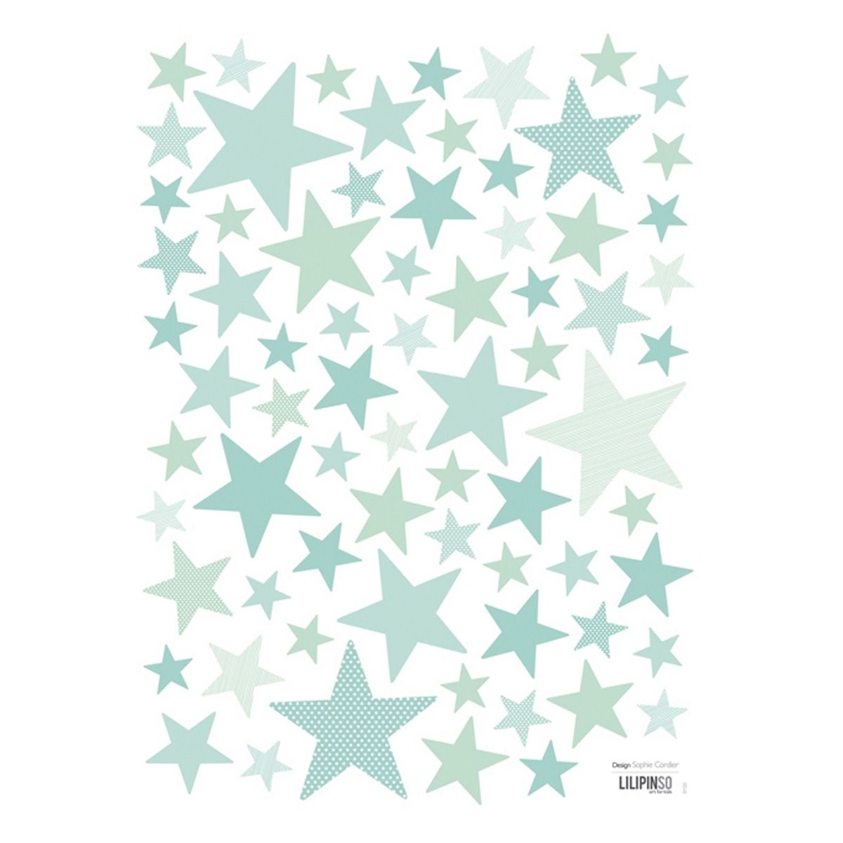 Wandsticker 'My Superstar' Sterne mint