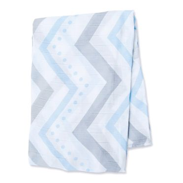 Bamboo Swaddle Mulltuch 'Blue Chevron'