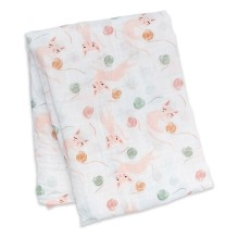 lulujo - Bamboo Swaddle Mulltuch 'Black Floral'