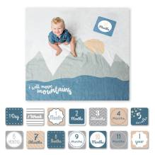 Swaddle & Karten Set 'Baby's First - I will move mountains von lulujo