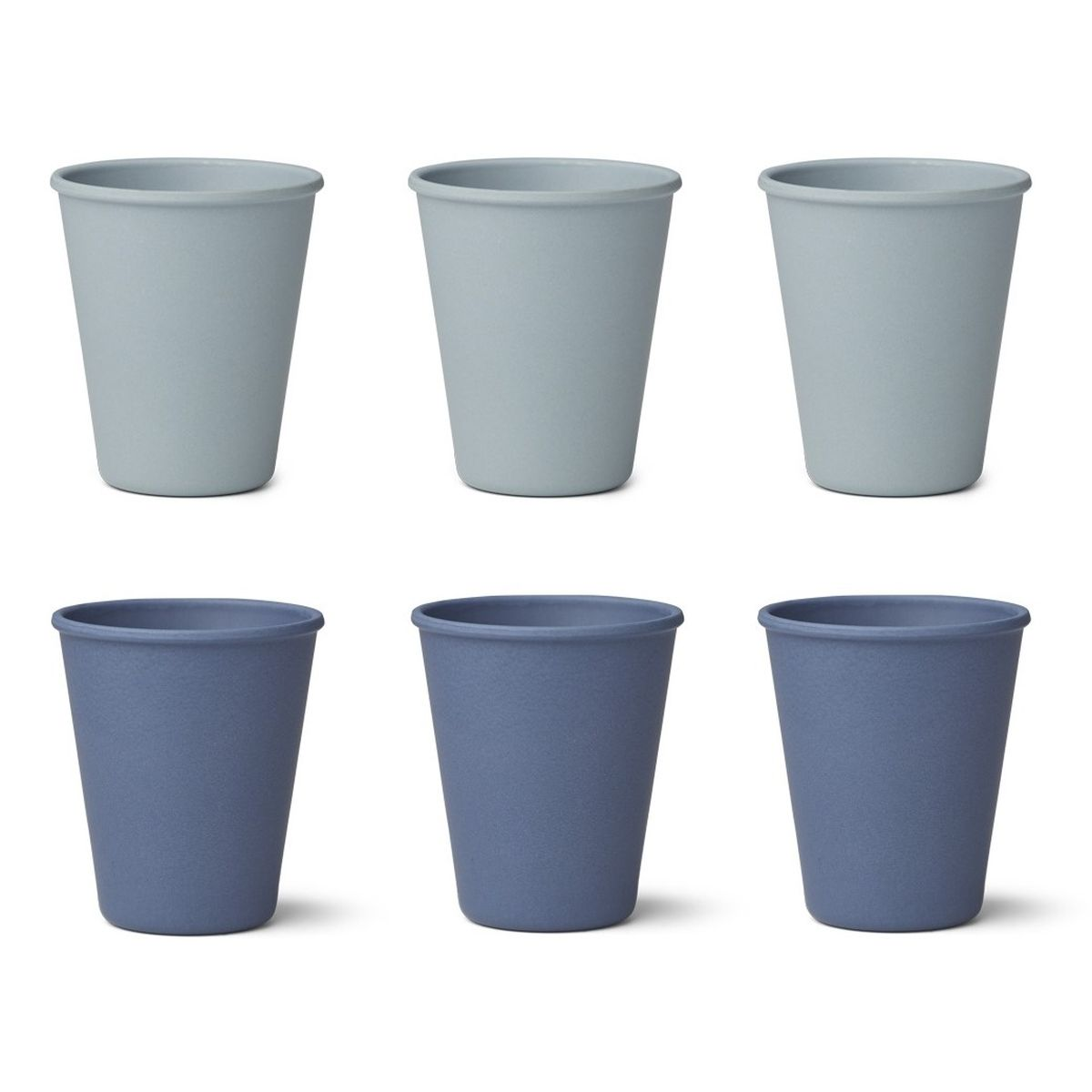 Bambus Becher 'Gertrud' Blue mix 6er-Set