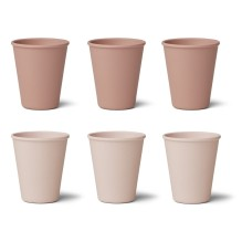 Liewood - Bambus Becher 'Gertrud' Rose multi mix 6er-Set