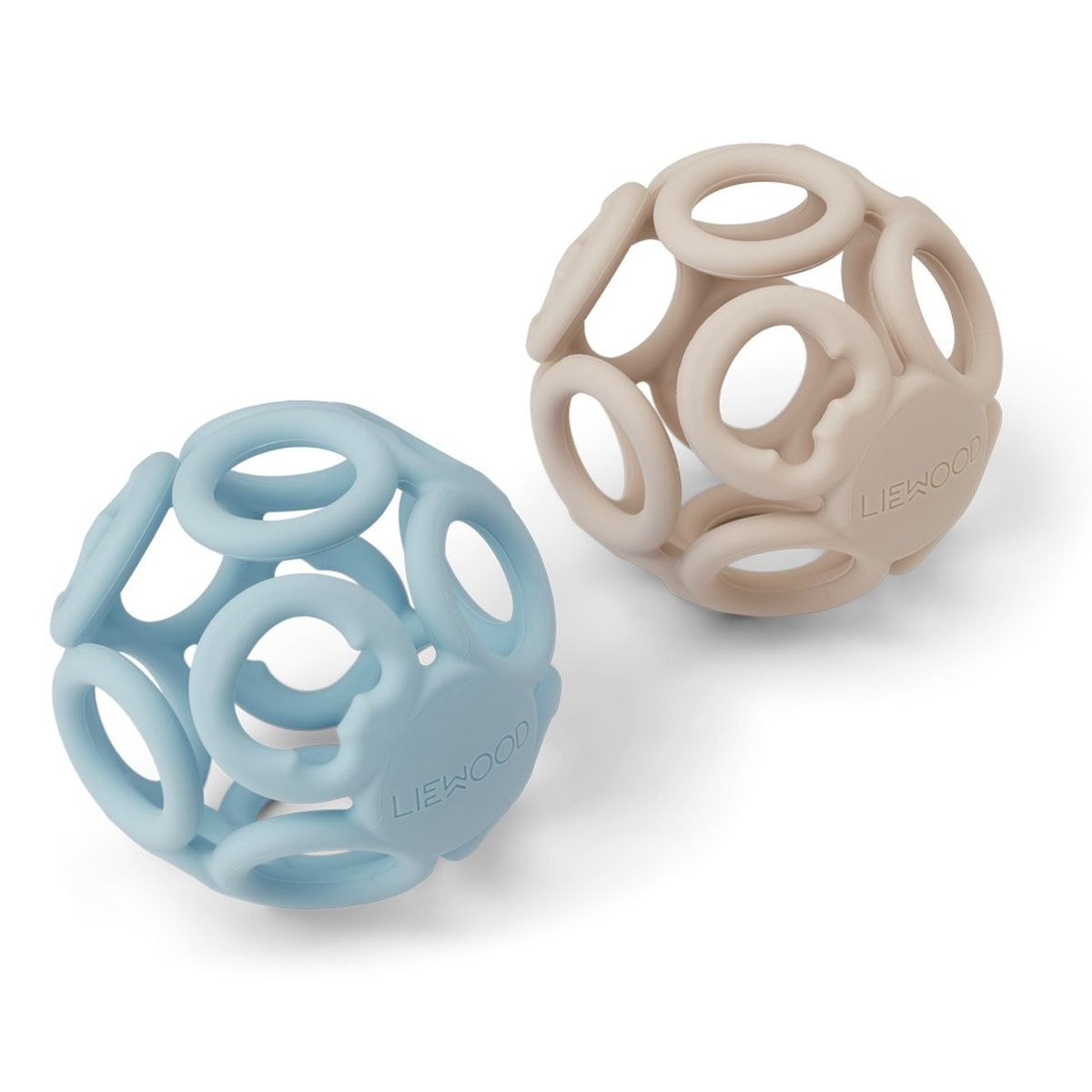 Beißring Ball 'Jasmin' Sandy Sea Blue Mix 2er-Set