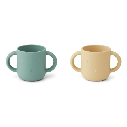 Silikon Tasse 'Gene' Rabbit Peppermint Mix 2er-Set