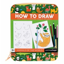 How to Draw Activity Kit 'Tiere' von Petit Collage