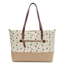 Wickeltasche 'Notting Hill Tote - Tulips & Forget Me Nots' von Pink Lining