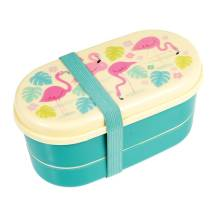 Kinder Bento-Box Lunchbox 'Flamingo Bay' von Rex International