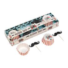 Muffin Backförmchen 'Barber Shop Moustache' von Rex International