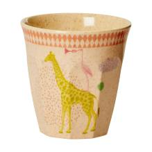 Bambus Melamin Kinder Becher 'Girls Animal' von rice