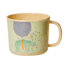 Bambus Melamin Kinder Tasse 'Boys Animal' von rice