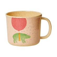 Bambus Melamin Kinder Tasse 'Girls Animal' von rice