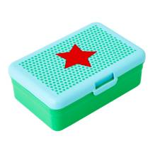 rice - Lunchbox Snackbox 'Boy Star Print' grün (klein)