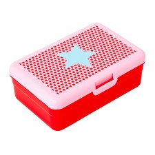 Lunchbox Brotdose 'Girls Star Print' rot von rice