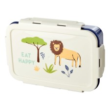 Lunchbox Brotdose 'Jungle Animals Blue' Löwe von rice