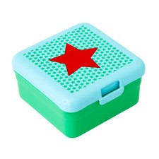 Lunchbox Snackbox 'Boy Star Print' grün (klein) von rice