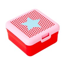 Lunchbox Snackbox 'Girls Star Print' rot (klein) von rice
