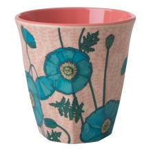 Melamin Becher 'Blue Poppy' von rice