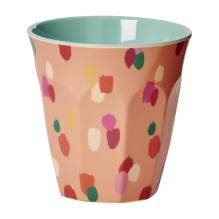 Melamin Becher 'Coral Dapper Dot' von rice