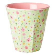 rice - Melamin Becher 'Easter Print - Flower' rosa
