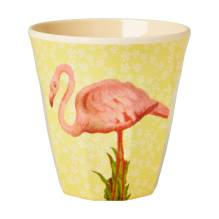 Melamin Becher 'Flamingo Print' von rice