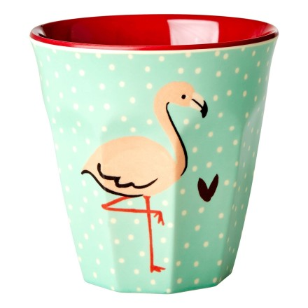 Melamin Becher 'Flamingo'