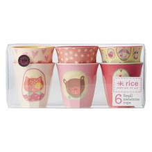 Melamin-Becher 'Girls Happy Camper' im 6er-Set (klein) von rice