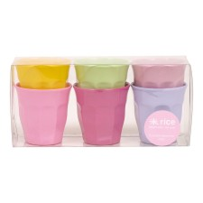 Melamin Becher 'Girly Colors' im 6er-Set (klein) von rice