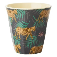 Melamin Becher 'Leopard and Leaves' von rice