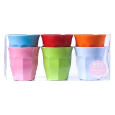Melamin Becher Medium 'Bright Colors' im 6er-Set von rice