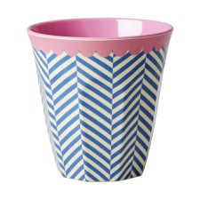 Melamin Becher 'Two Tone Sailor Stripe' von rice