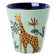 Melamin Kinder Becher 'Jungle Animals' blau von rice