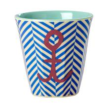Melamin Kinder Becher 'Sailor Stripe & Anchor' von rice