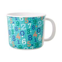 Melamin Kinder Tasse 'Retro Numbers' von rice