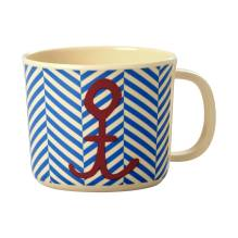 Melamin Kinder Tasse 'Sailor Stripe & Anchor' von rice