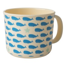 Melamin Kinder Tasse 'Whales and Starfish' von rice