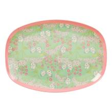 Melamin Tablett Platte 'Butterfly & Flower' oval von rice