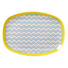 Melamin Tablett Platte 'Chevron' oval von rice