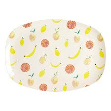 Melamin Tablett Platte 'Happy Fruits' oval von rice